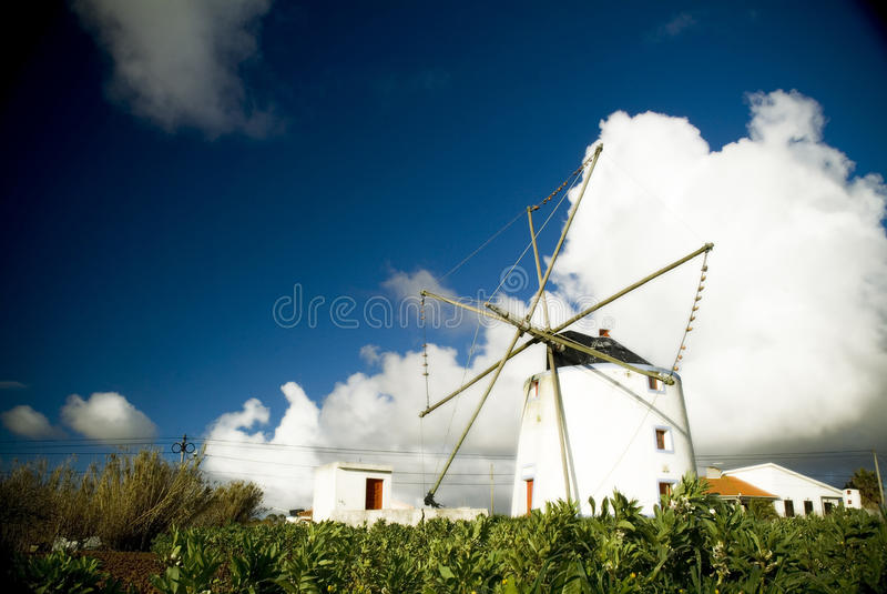 Португальская ветрянка стоковая фотография