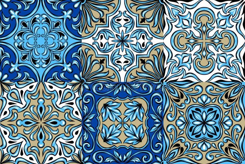 Португальская картина керамической плитки azulejo иллюстрация штока