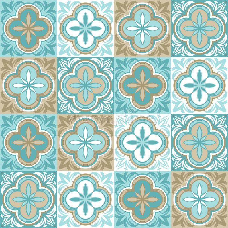 Португальская картина керамической плитки azulejo бесплатная иллюстрация
