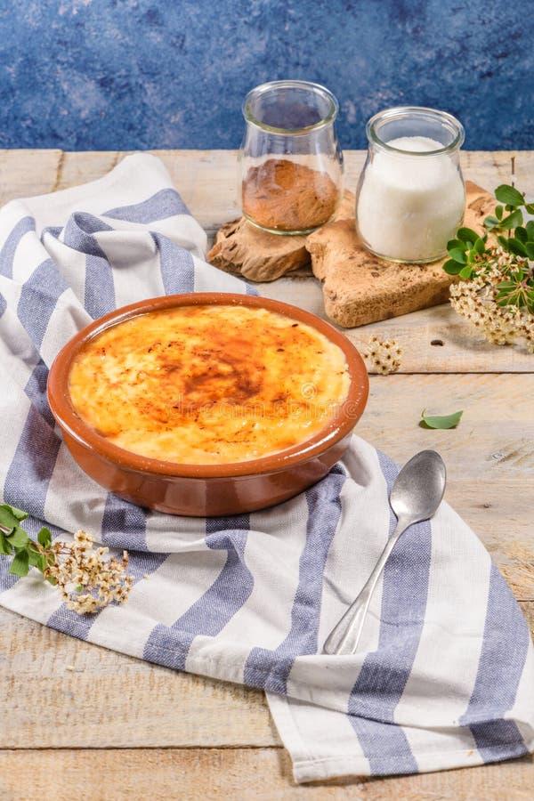 Португальский creme leite стоковая фотография