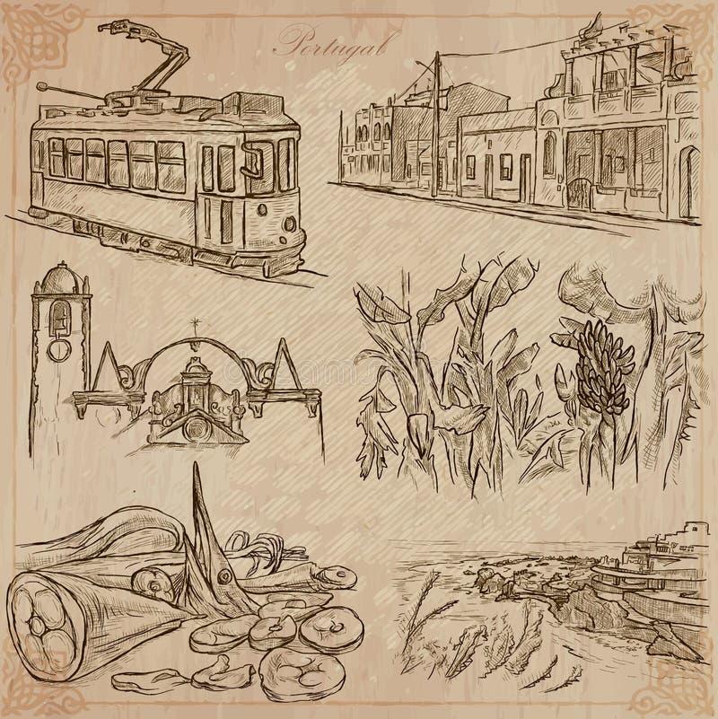 Португалия Изображения жизни Пакет вектора иллюстрация штока