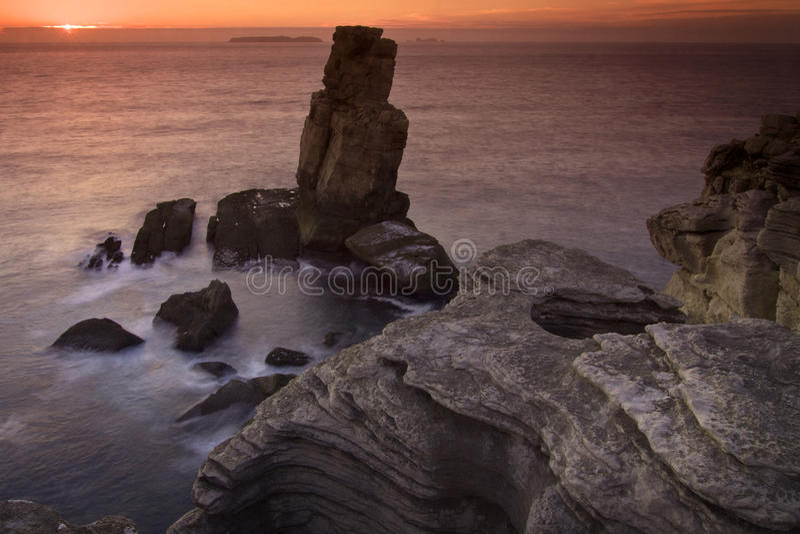 Португалия: Cabo Carvoeiro стоковое фото