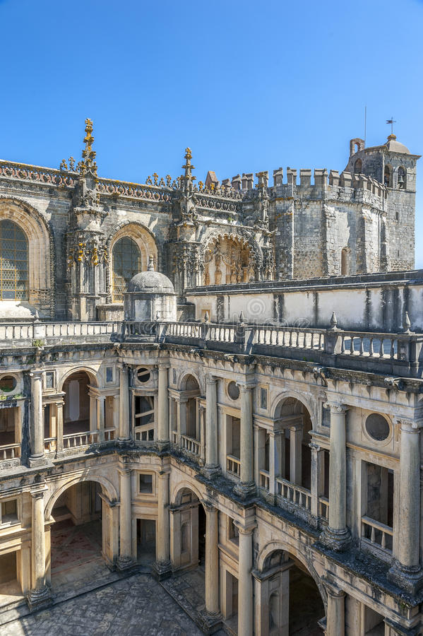 Португалия, Tomar, монастырь заказа Христоса стоковая фотография rf