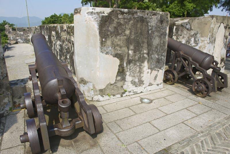 Португальские карамболи в крепости Guia в Макао, Китае стоковое изображение rf