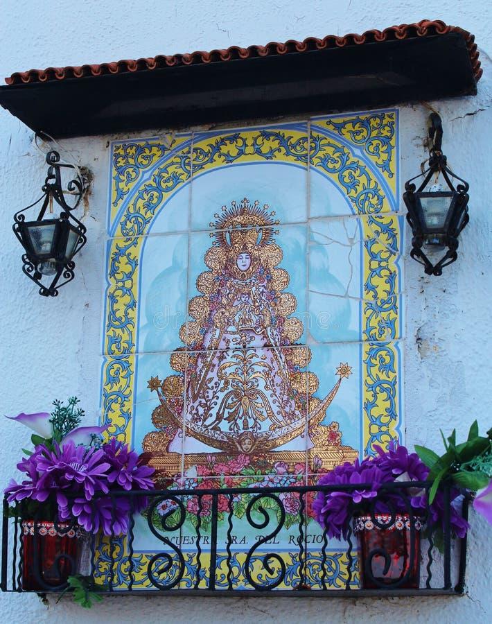 Португальские плитки стены - святыня стоковое изображение rf