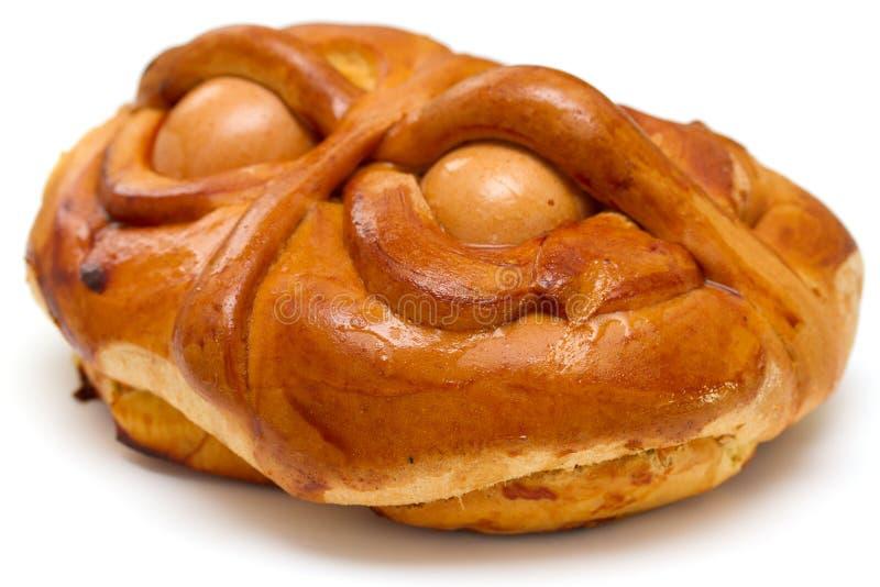 Португальский традиционный торт Folar пасхи стоковые фото