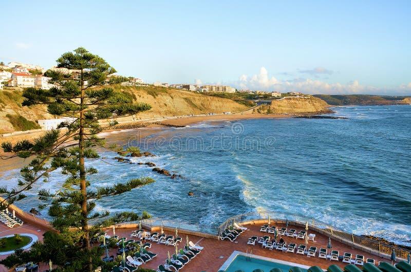 Португальское морское побережье стоковое изображение rf