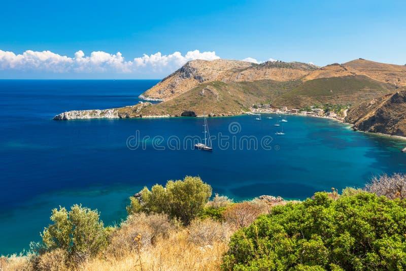 Порту Kagio Греция стоковые фотографии rf