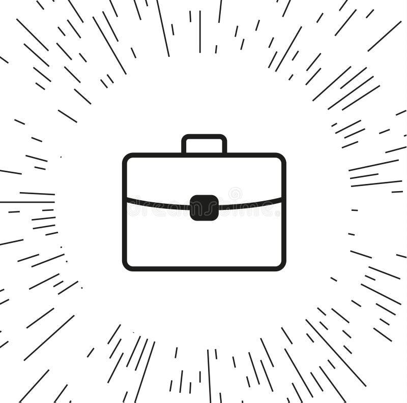 Портфель значка вектора бесплатная иллюстрация