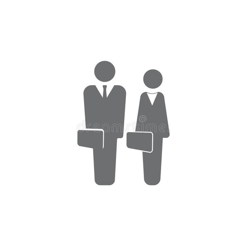 Портфель коммерсантки бизнесмена Простая иллюстрация элемента Значки дела всеобщие для сети и черни иллюстрация вектора