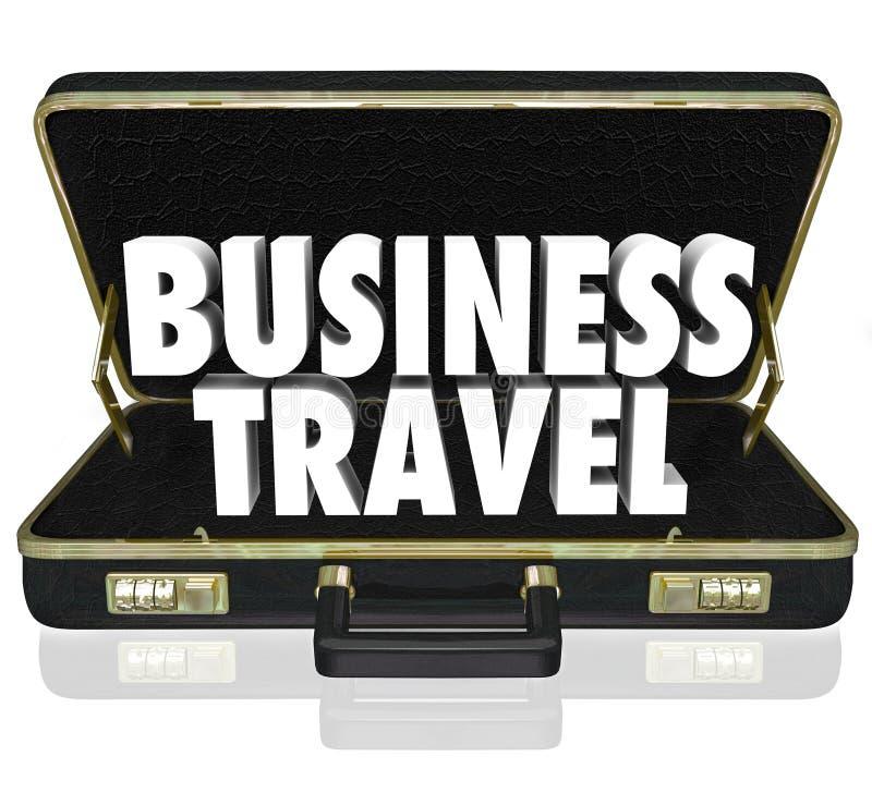 Портфель деловых поездок формулирует важную встречу иллюстрация вектора