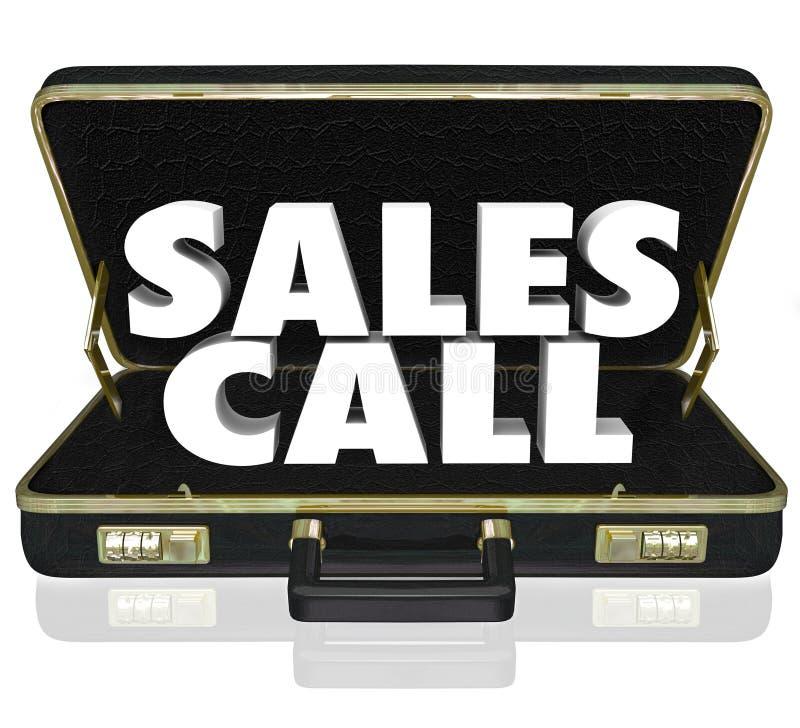 Портфель звонка продаж открытый продавая предложение представления иллюстрация штока