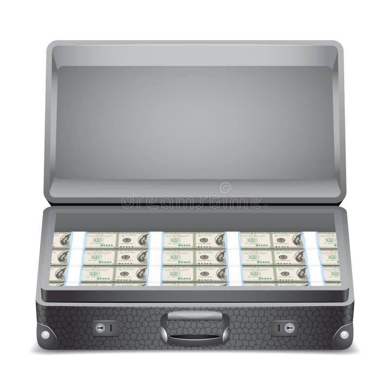 Портфель с деньгами. иллюстрация вектора