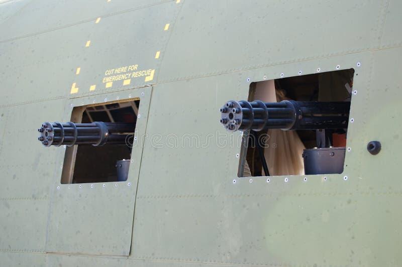 порты пушки пугающие стоковое изображение