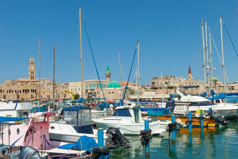 Порт акра, Израиль стоковое фото