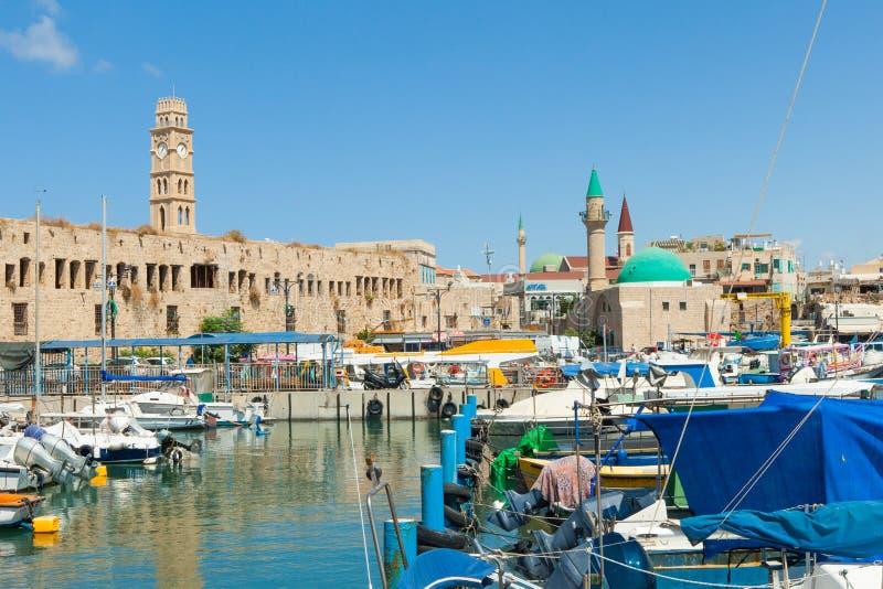 Порт акра, Израиль стоковая фотография