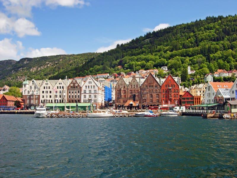 Порт Бергена в Норвегии стоковые изображения rf