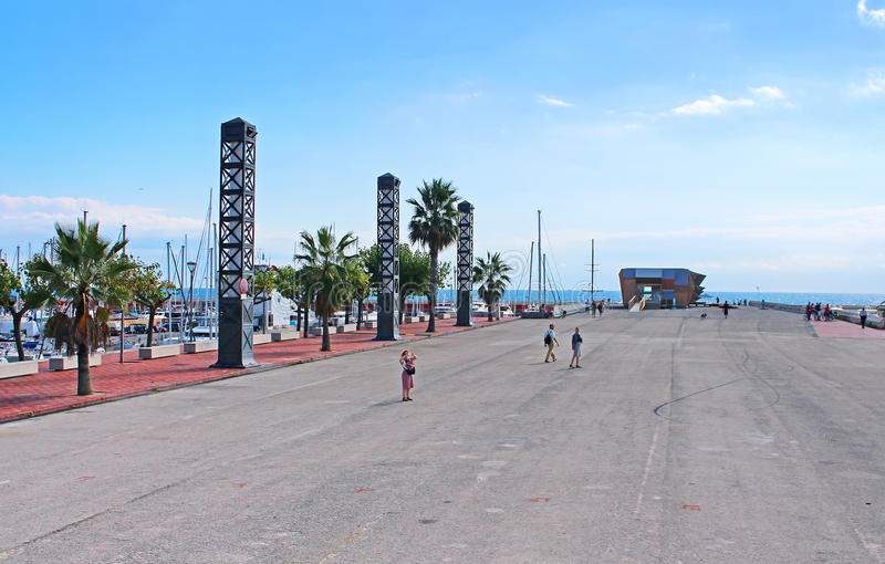 Порт в Барселоне стоковое фото rf