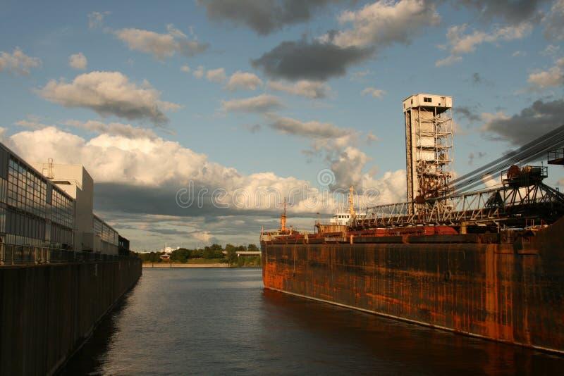 Порт в Монреале стоковое изображение