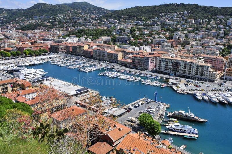 Порт в славном, Франция Lympia стоковые фотографии rf