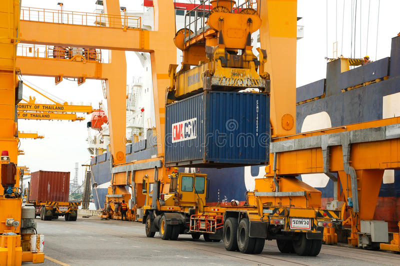 порт в Таиланде стоковое фото