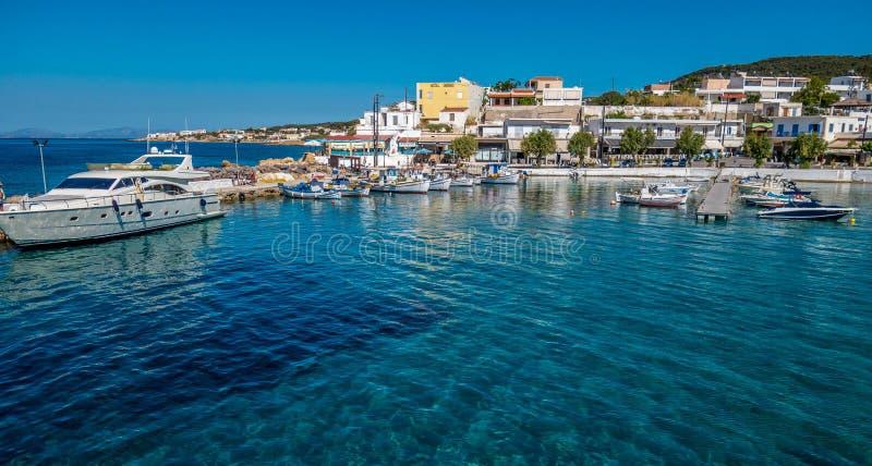 Порт в Aegina, Греции стоковые изображения rf