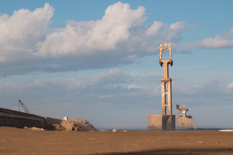 Порт в Sidi Ifni, Марокко стоковое фото
