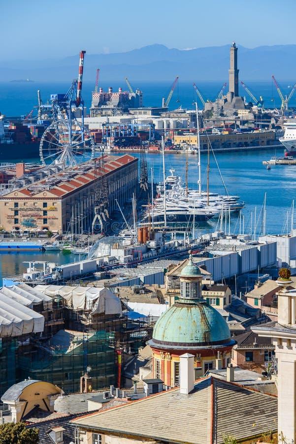Порт Генуи стоковые фотографии rf