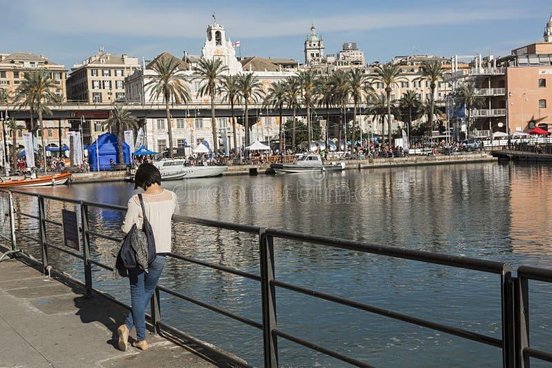 Порт Генуи, Италии стоковое изображение rf