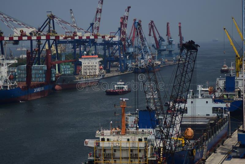 Порт Джакарта Tanjung Priok стоковые изображения rf