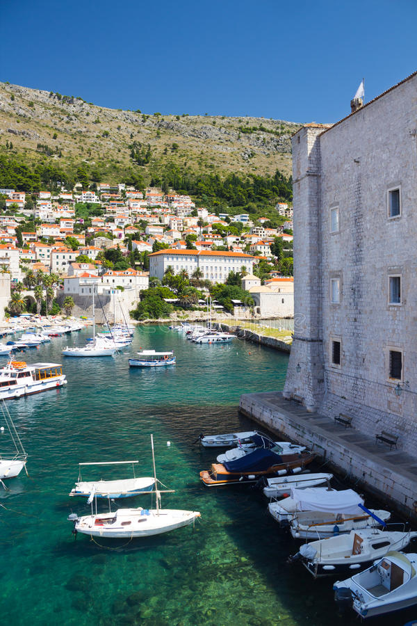 Порт Дубровника стоковые изображения
