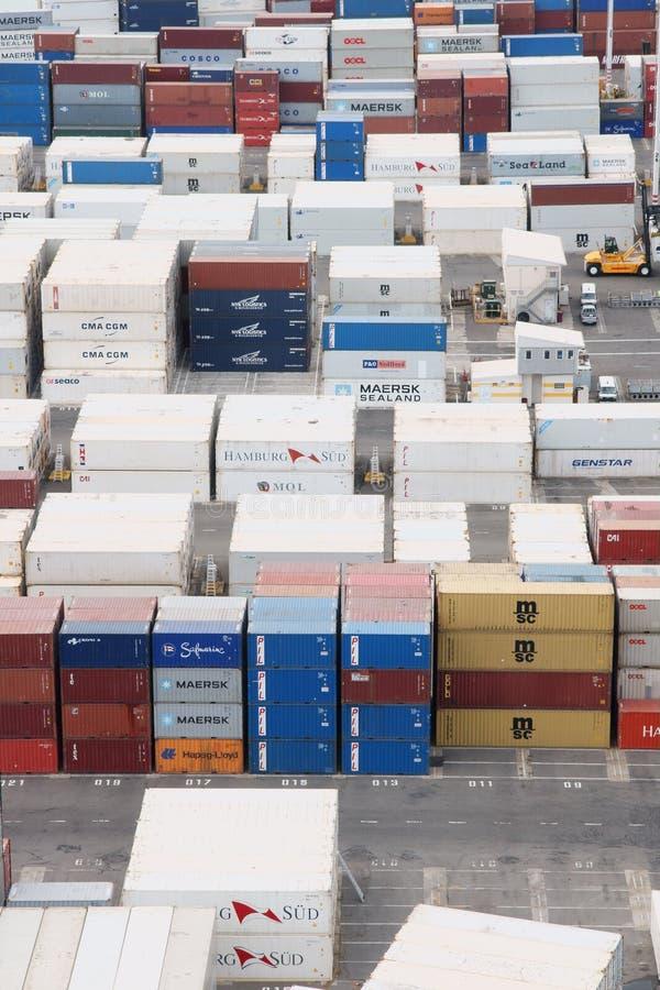 Порт контейнеров для перевозок Napier стоковые изображения rf