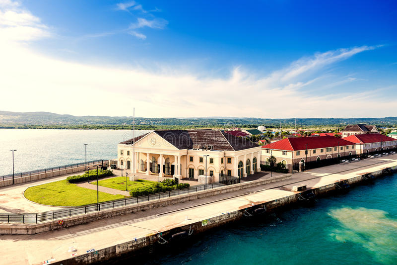 Порт круиза в Фолмуте - ямайке стоковая фотография rf