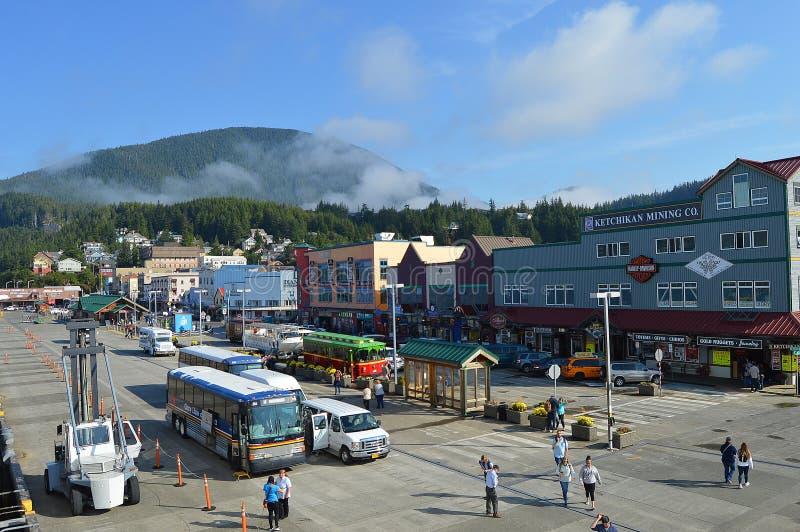 Порт круиза Ketchikan Аляски стоковая фотография rf