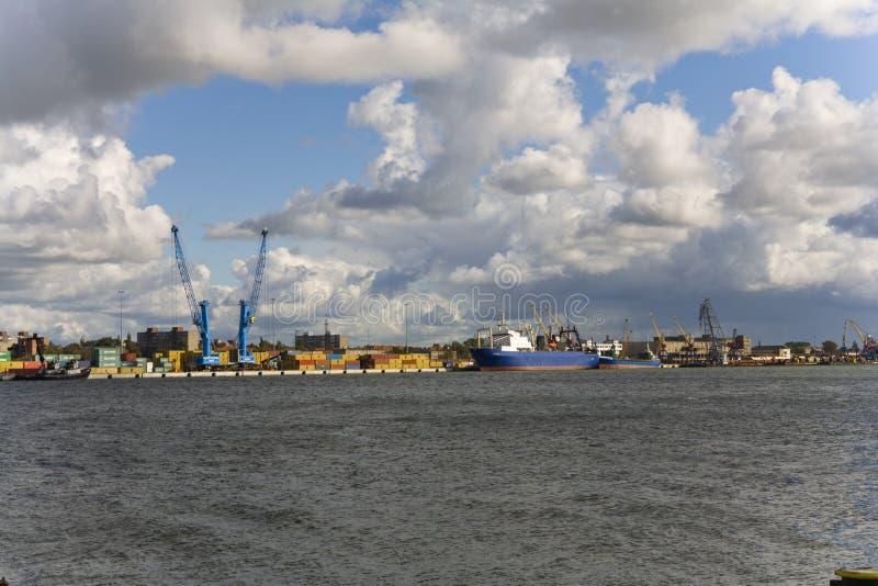 порт Литвы klaipeda стоковые изображения