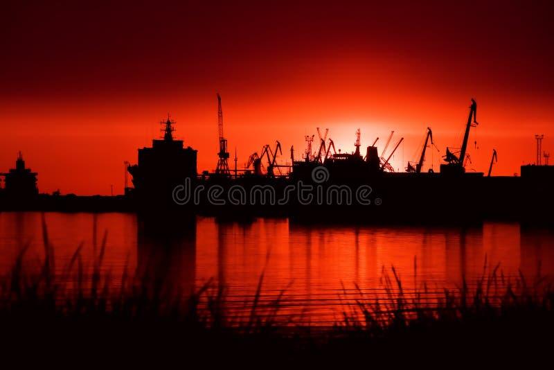 порт ночи стоковые фотографии rf