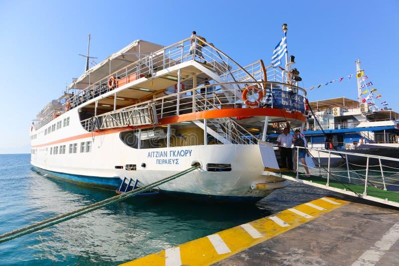 Порт острова Aegina - Греции стоковое изображение