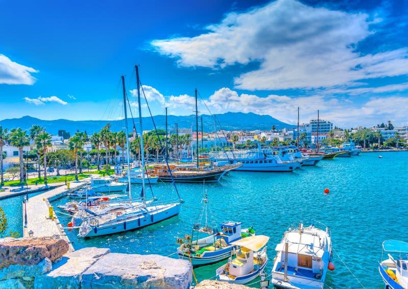 Порт острова Kos стоковая фотография