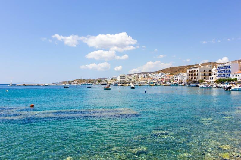 Порт острова Tinos, Греции стоковые фото