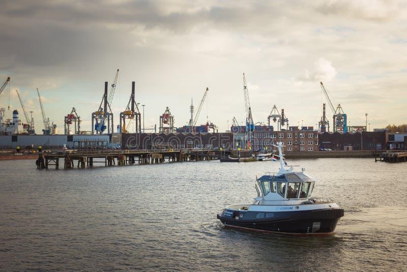 Порт Роттердам стоковое фото