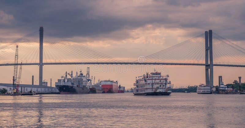 Порт саванны стоковые фото
