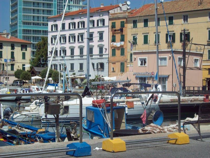Порт Савоны Италии стоковые изображения