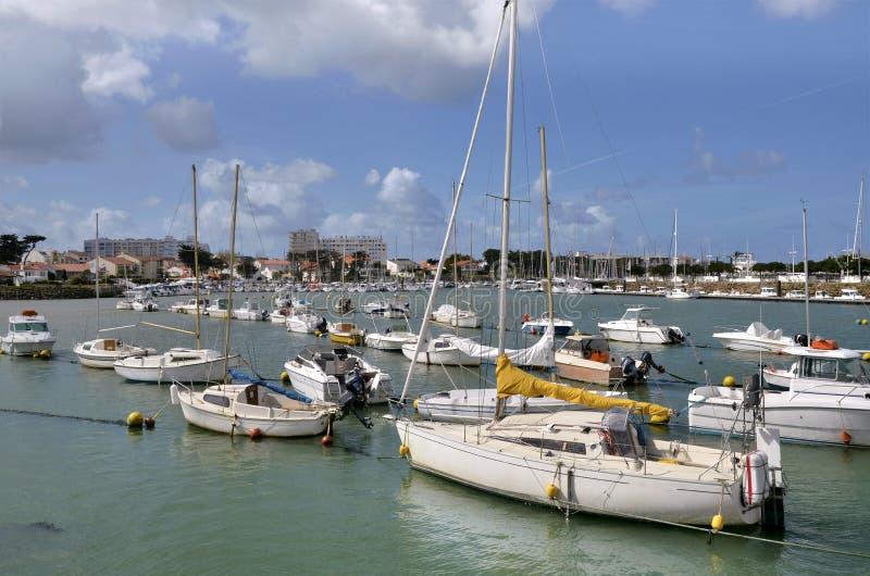 Порт Святой-Gilles-Croix-de-Соперничает в Франции стоковые изображения rf