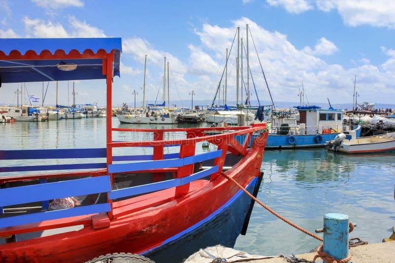 Порт старого акра, Израиль стоковое изображение