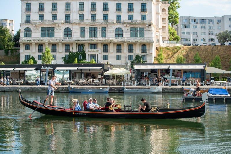 Порт Томис из Константа Румыния, плавание на парусе Гондола стоковая фотография