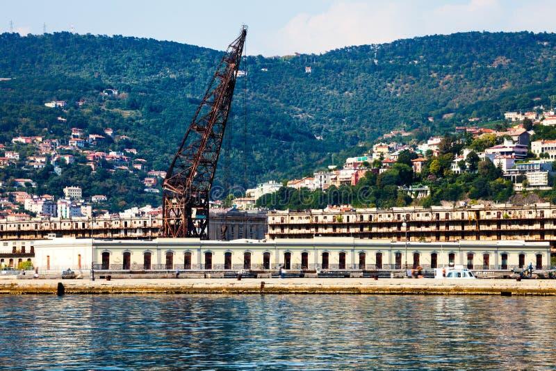 Порт Триеста Море и ландшафт стоковые изображения rf