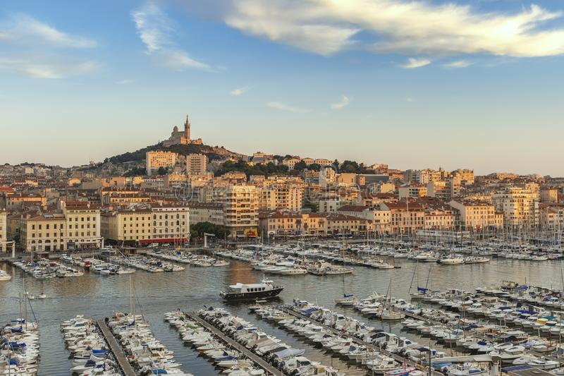 Порт Франция Vieux марселя стоковое изображение rf