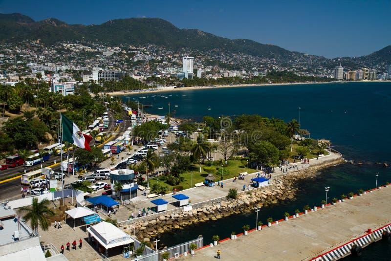 порт acapulco стоковое фото