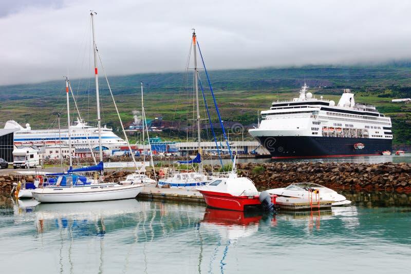Порт akureyri, Исландии стоковые фото