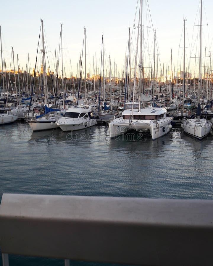 Порт Barcellona стоковое изображение rf